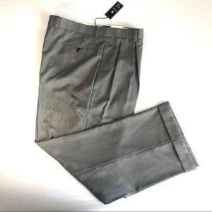 Sean John Mens Wide Leg Slacks Silver 40 x 30 NWT